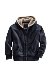 Sherpa Lined Hoodie, #392860, $29.50. Colors: Light true cordovan, light copper, dusty chocolate, light classic navy, light spruce, pewter heather
