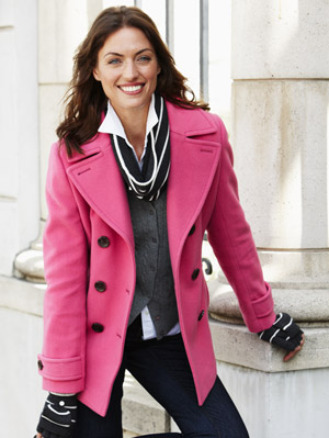 Images of Women S Winter Pea Coats - Reikian